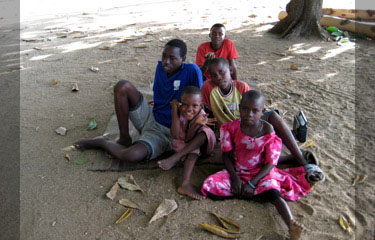Local children from Mikindani